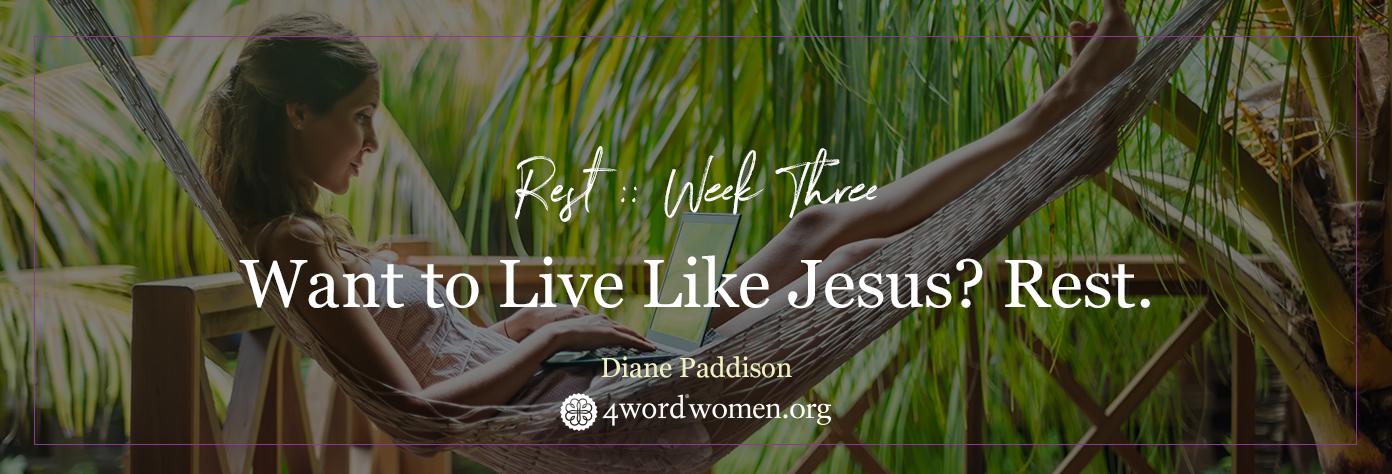 rest like jesus