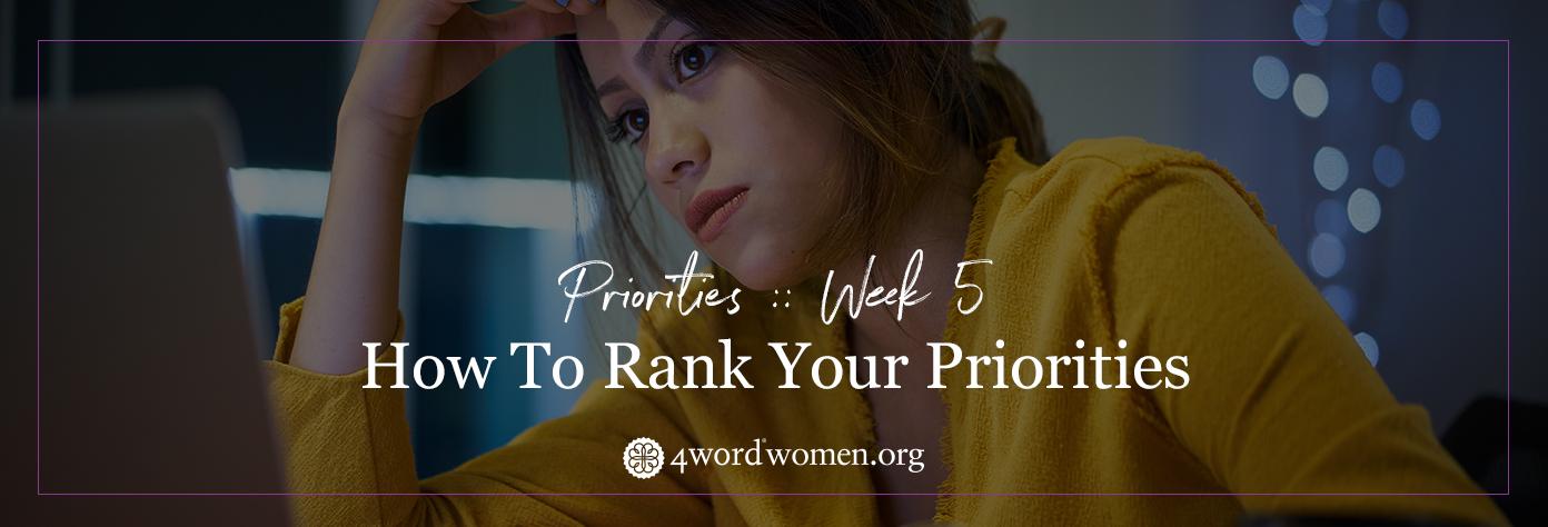 rank your priorities