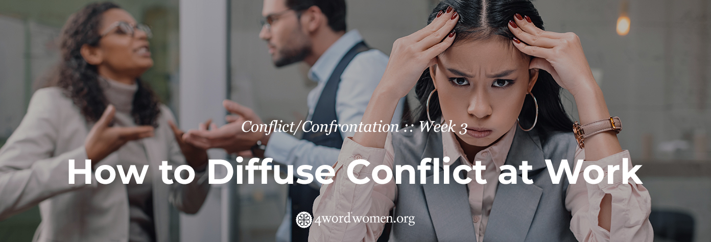 How to Diffuse Conflict at Work